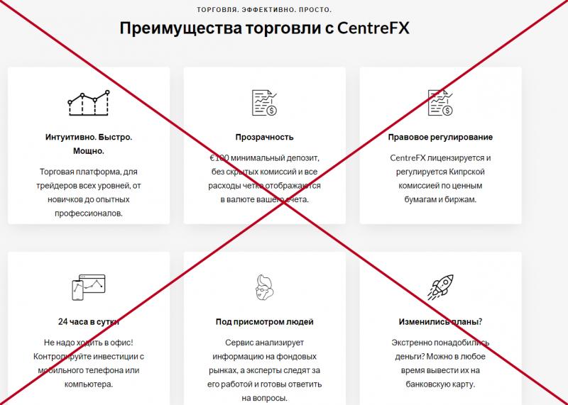 Centrefx (centrefx.com) обзор и отзывы о брокерской компании. - Seoseed.ru