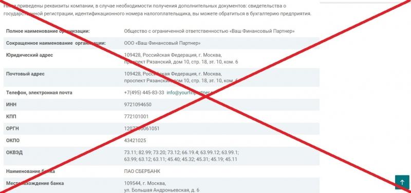Ваш Финансовый Партнер (yourfinpartner.ru) — отзывы и обзор компании - Seoseed.ru