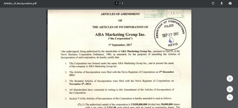 ABA Marketing Group Inc – Помогает сохранить и приумножать сбережения? Отзывы о aba.marketing