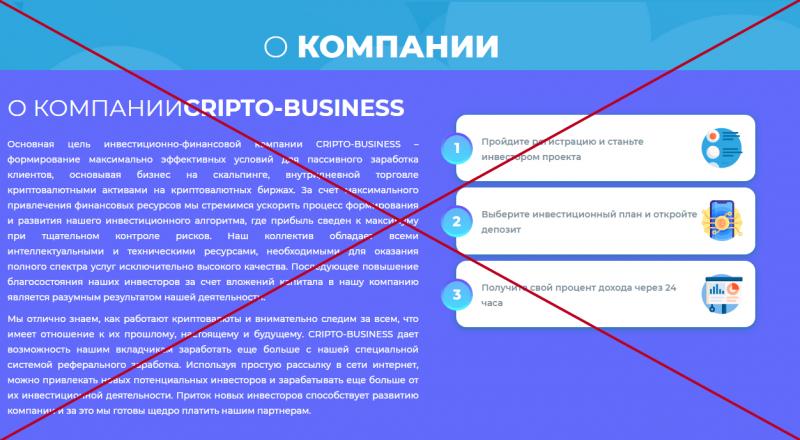 Cripto Busness – обзор и отзывы инвестиционного проекта - Seoseed.ru