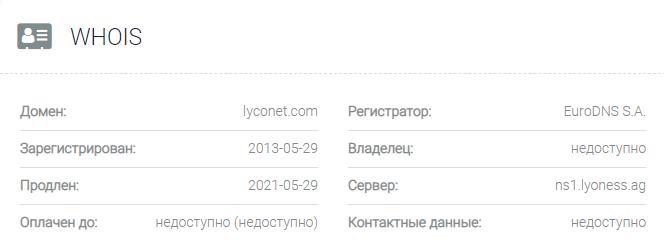 Lyconet – отзывы