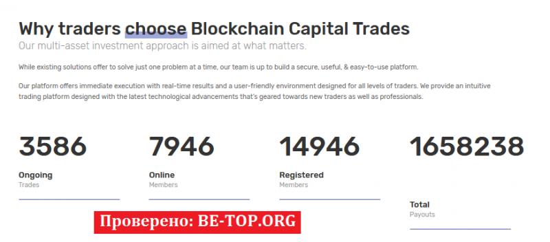 Blockchain Capital Trades МОШЕННИК отзывы и вывод денег
