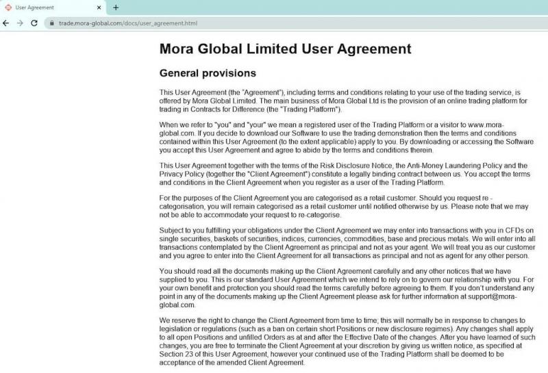 Mora Global (Мора Глобал): проверка платформы и отзывы инвесторов о брокерской компании