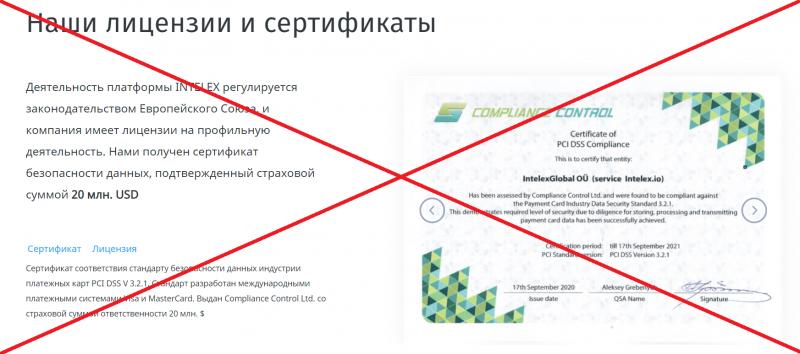 INTELEX — отзывы о проекте intelex.io